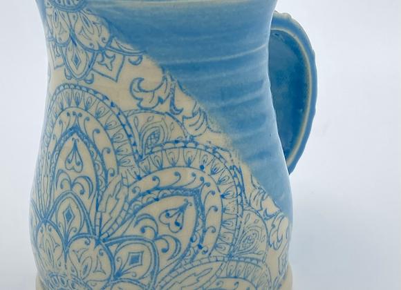 Blue Mandala mug 10oz