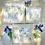 Thumbnail: PREORDER Bluebonnets Square plate set of 3