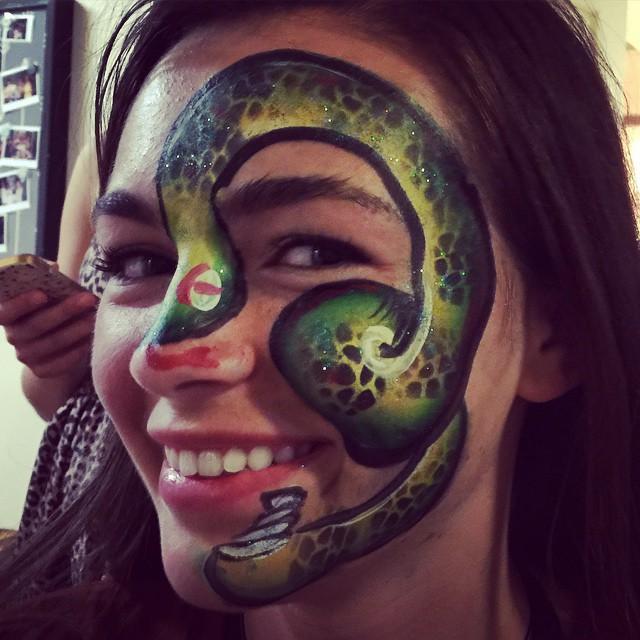 Instagram - #snakefacepaint #Austin #artybrushcake #Facepaint #facepainter #part