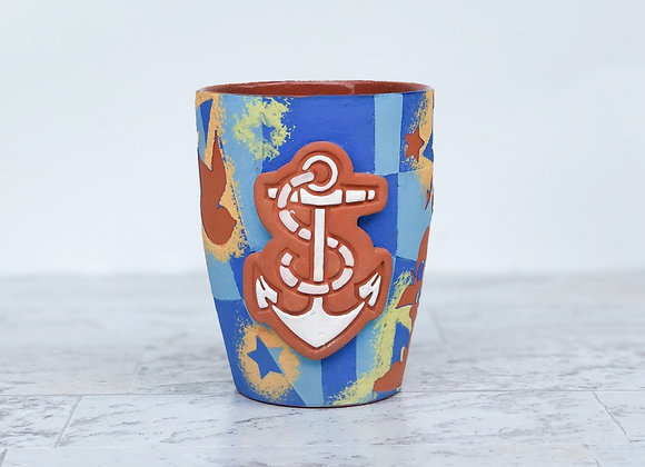 Nautical themed Cup w/anchor