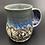 Thumbnail: Blue purple glazed flower mug 13oz