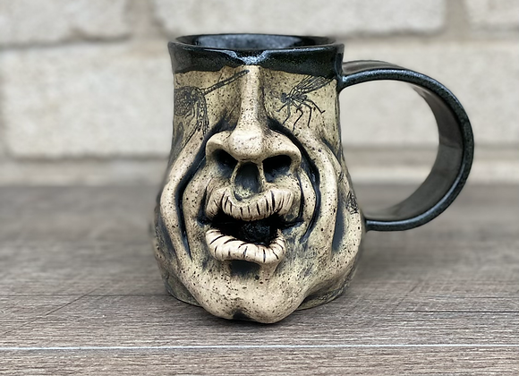 Squish face mug with dragonflies