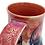 Thumbnail: Red cheetah print skull mug 12oz