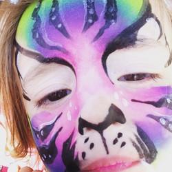 Instagram - #toddlerselfie #Facepaint #tiger #tigerfacepaint #rainbowtiger #epic