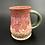 Thumbnail: Roses mug with hot pink glaze 12oz