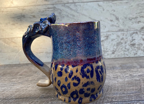 Rainbow aura quartz cheetah mug 10oz