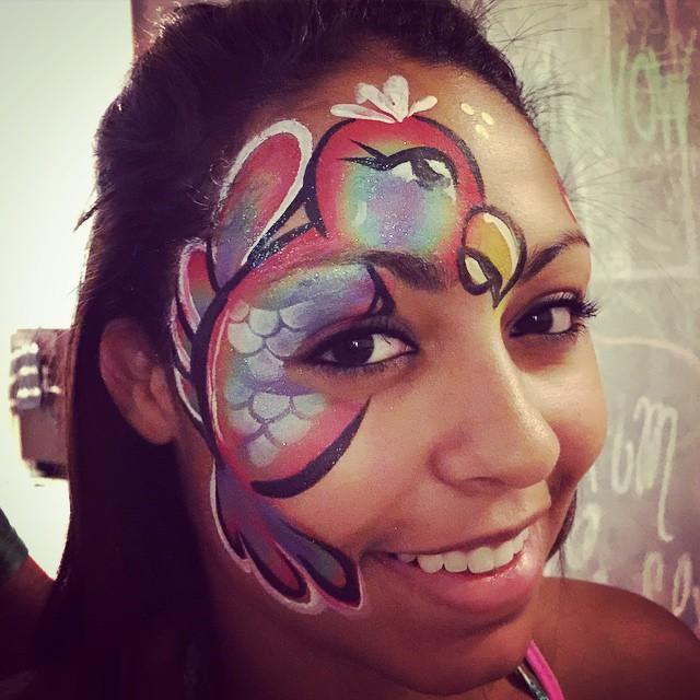 Instagram - #epicbodypaintATX #epic #parrotfacepaint #Austin #rainbowcakes #arty