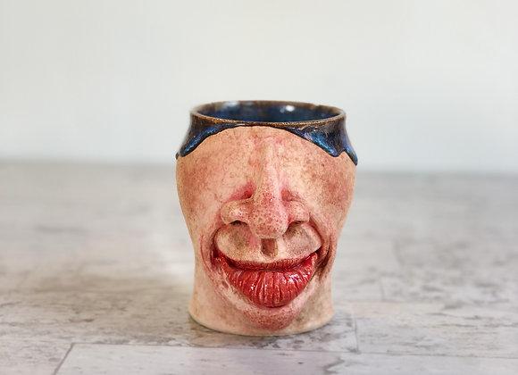 Face Mug 03 Blue liner