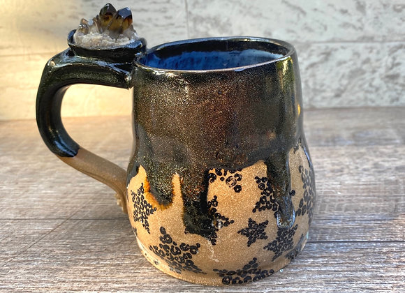 Smokey quartz glitter mug 16oz