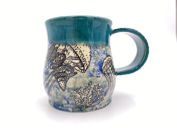 Jellyfish underwater mug 12oz