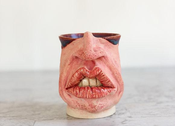 Face Mug pink/pur/blu liner