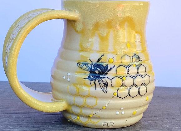 Bee mug #21 wide handle
