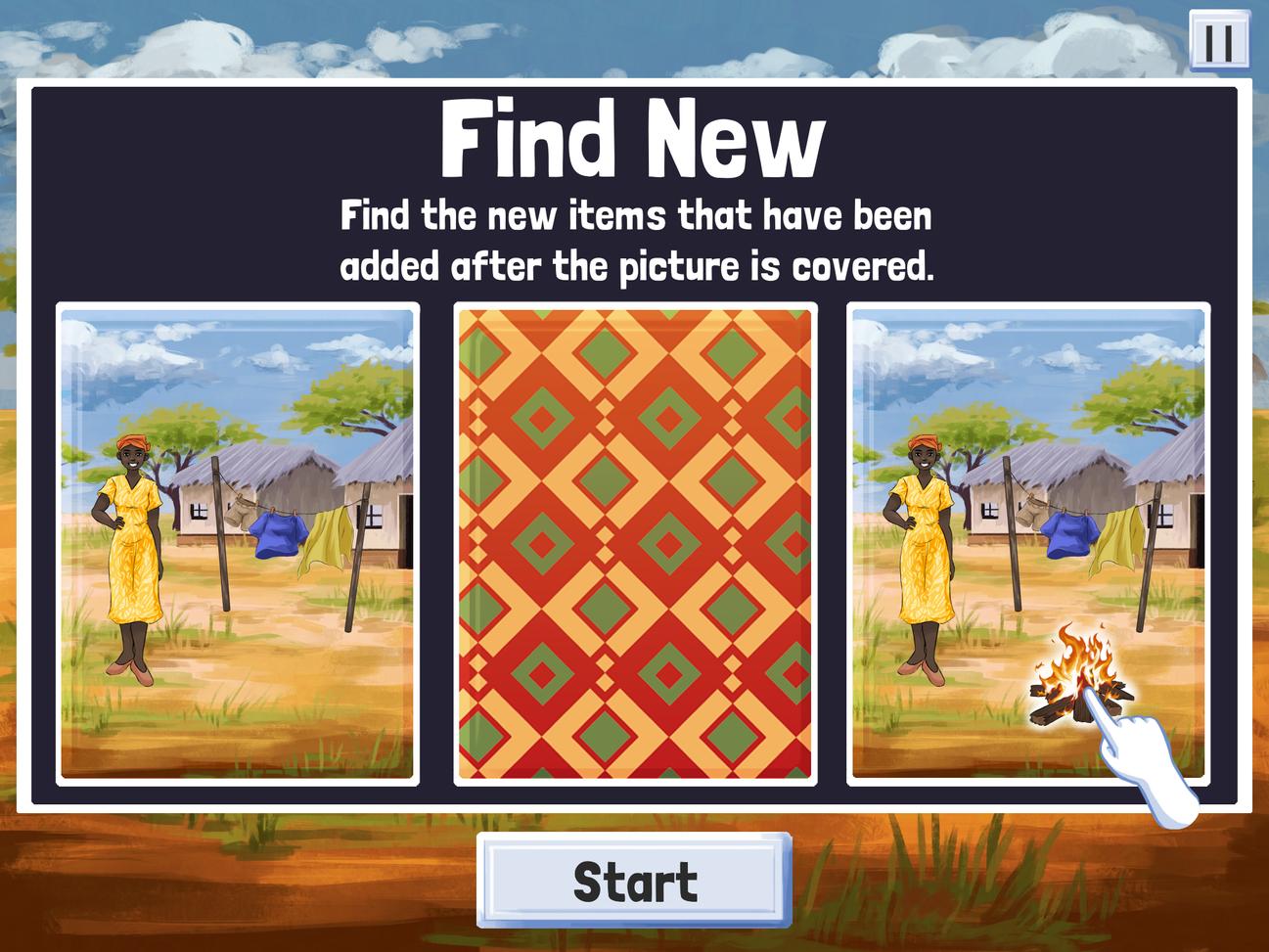Find New Start Screen