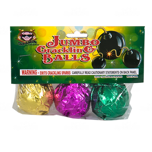 Jumbo Crackling Balls (1 pack of 3)