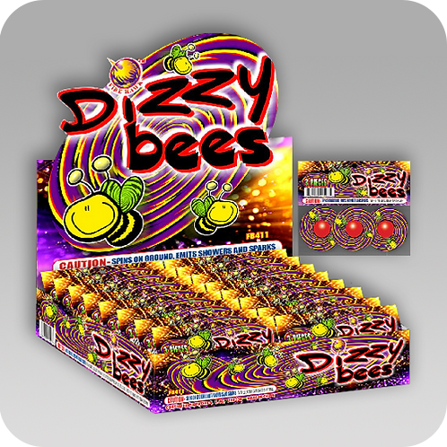 Dizzy Bees (1 package - 3 pieces)
