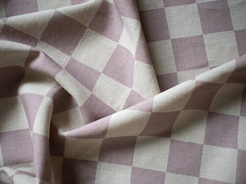 Capital Checks | lilac on linen