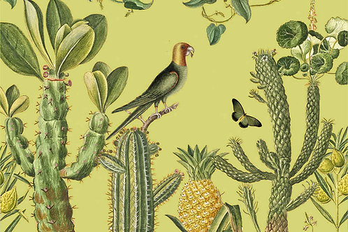 Botanical | man hunt in dirty yellow