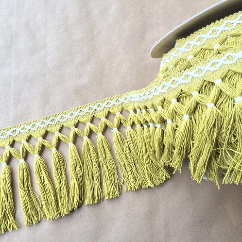 Fringe | 6.5 in diamond double knot, citron