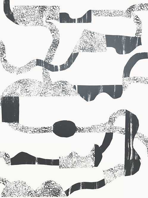 La Strada | gunmetal on cream