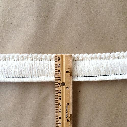 Fringe | 1.5 cut brush, natural cotton
