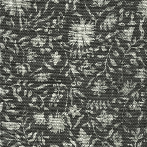 Madras Floral | charcoal