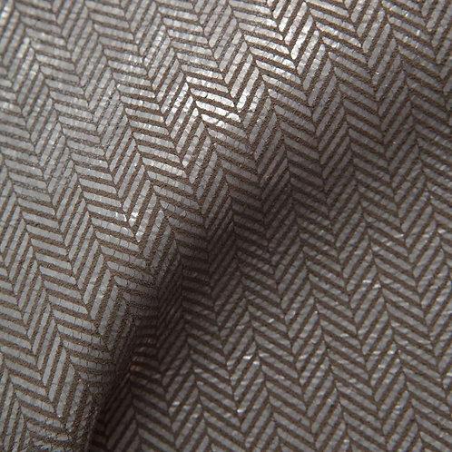 Herringbone | smoke hammered silver