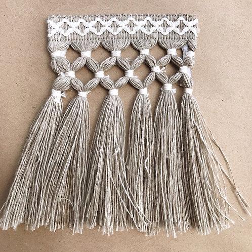 Fringe | 6.5 in diamond triple knot, outdoor jute