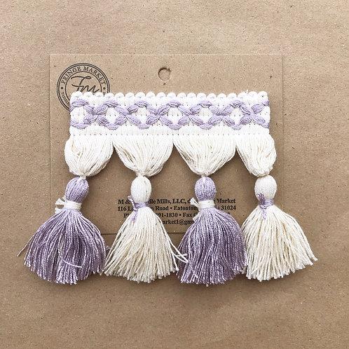 Fringe | 3.5 in frills, lavender + white