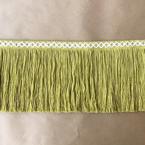 Fringe | 8 in diamond, chartreuse