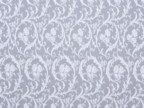 Brodie Sheers   rosebud scroll   white