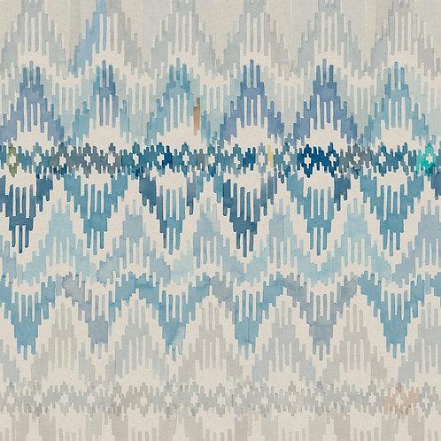 Bargello | caspian blue
