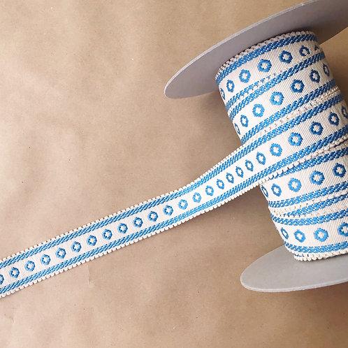 Tape | 1.5 in cirque picot, cornflower