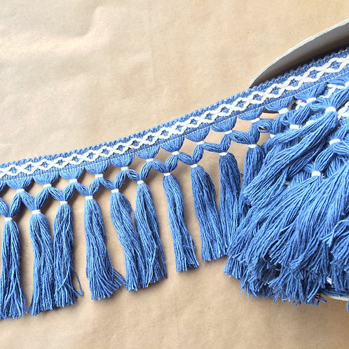Fringe | 6.5 in diamond double knot, chambray