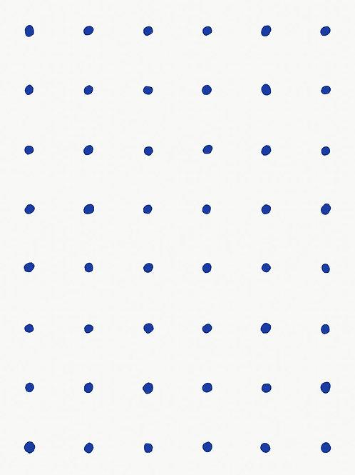 Dimes | yves blue on white