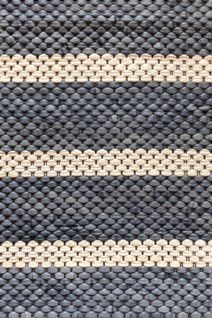 Woven | granite stripe in slate