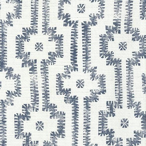 Shipibo | navy + paperweave on grasscloth