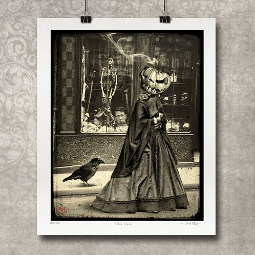 Avoiding Mrs. Churchstone - Limited Edition Print