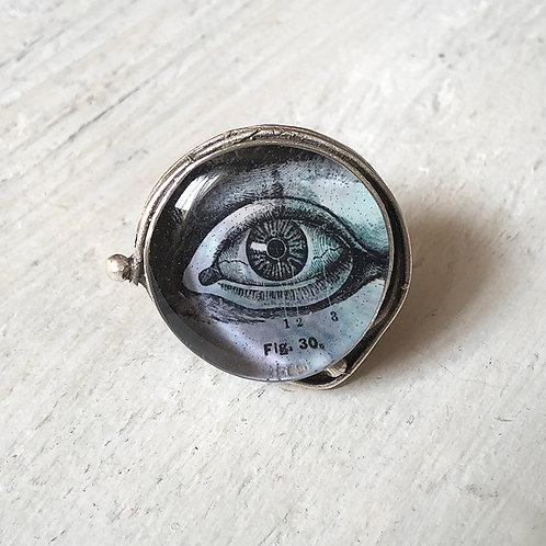Ring - Blue Eye, Large Circle