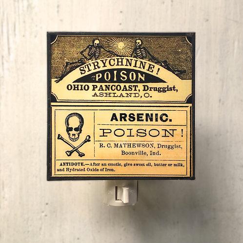 Vintage Poison Labels - Night Light