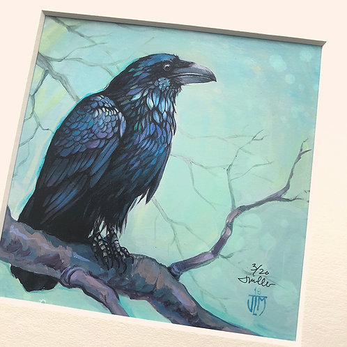 Wiscasset Raven - matted, limited edition
