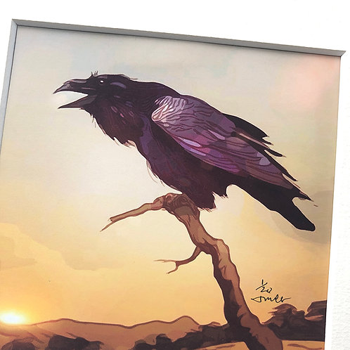 Desert Raven - matted, limited edition