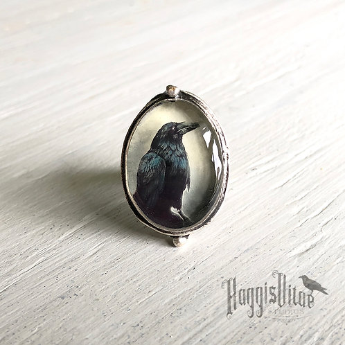 Ring - Dark Raven, Small Oval