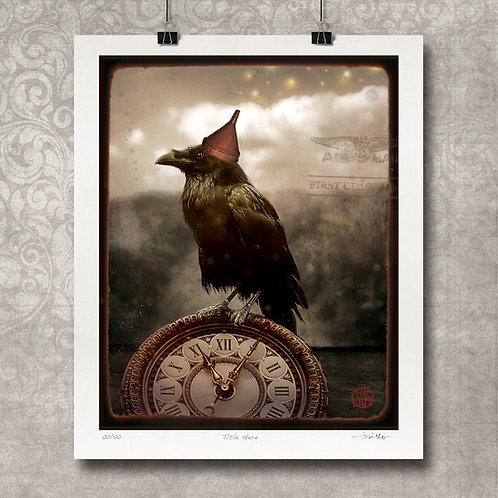 """""""New Year's Raven"""" - Limited Edition Print"""