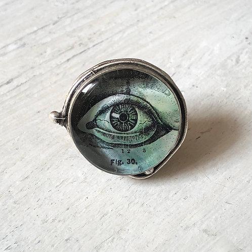Ring - Green Eye, Large Circle