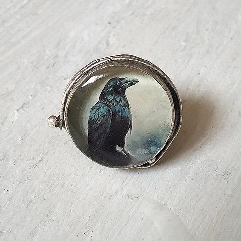 Ring - Dark Raven, Large Circle