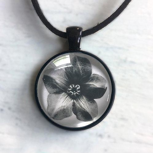 Black and White Flower Pendant