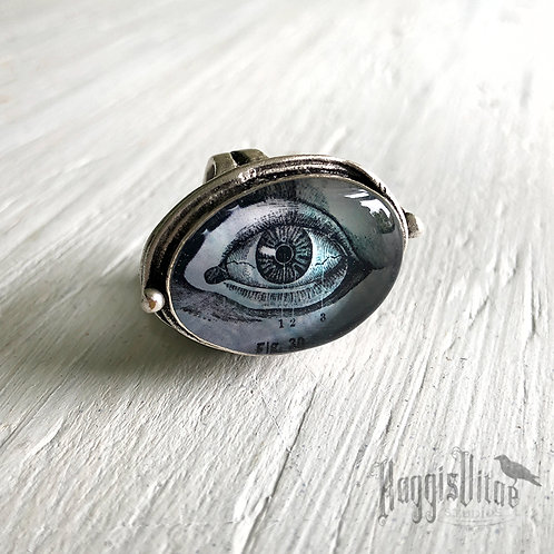 Ring - Blue and Violet Eye, Small Oval