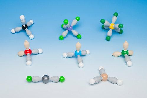 Set Formas de las Moléculas (8 modelos) MOLYMOD