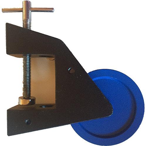Polea Vertical 70mm c/soporte mesón y barra