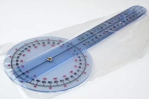 "Goniómetro plástico 12"", 360°, 50cm"